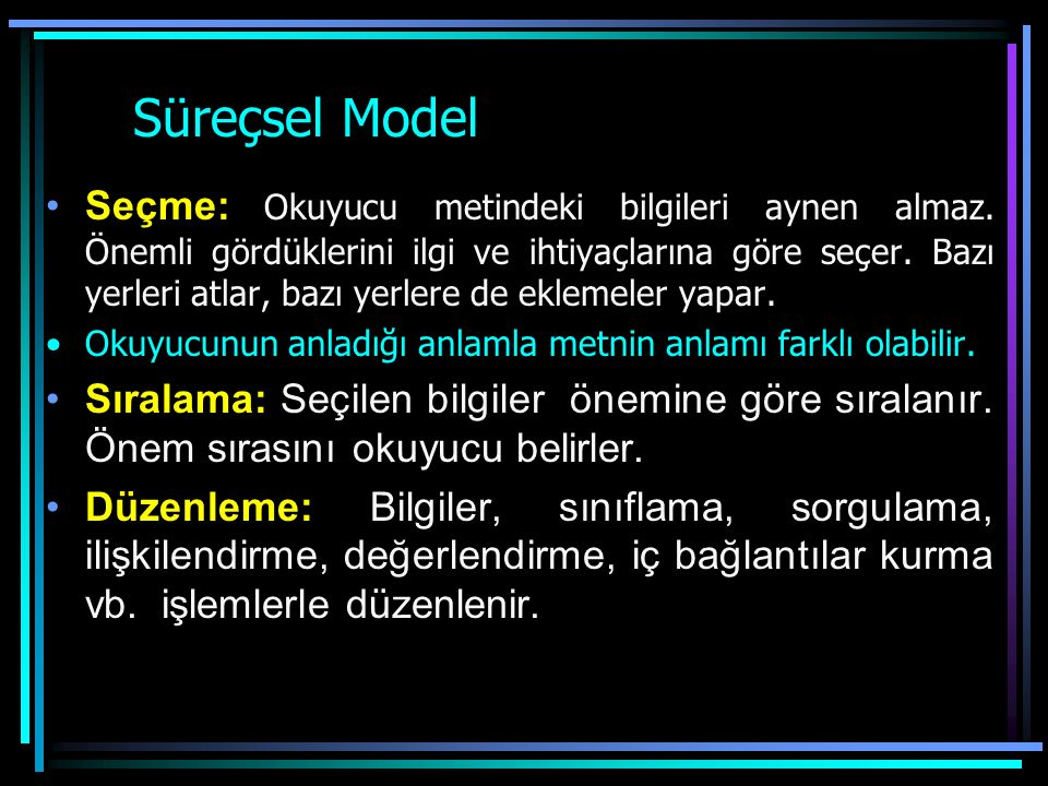 Süreçsel Model