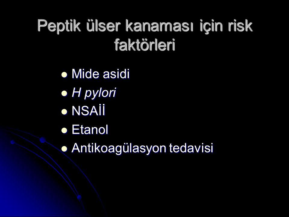 Peptik ülser kanaması için risk faktörleri
