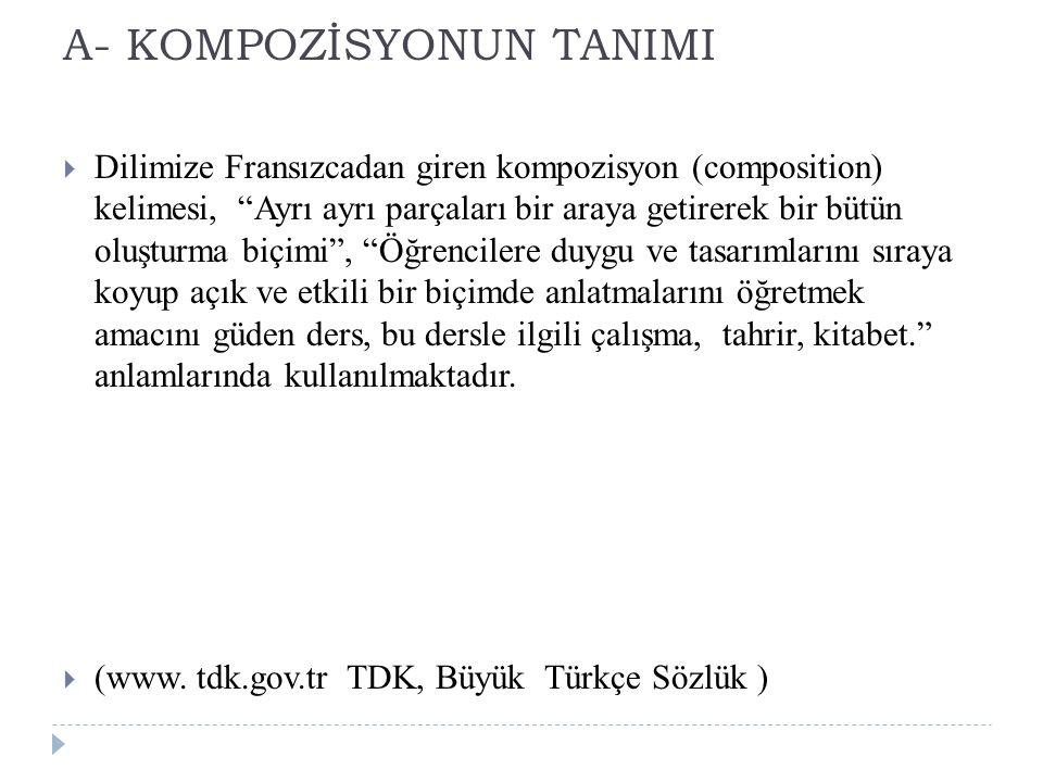 A- KOMPOZİSYONUN TANIMI