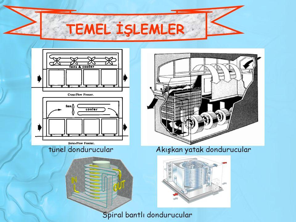TEMEL İŞLEMLER tünel dondurucular Akışkan yatak dondurucular