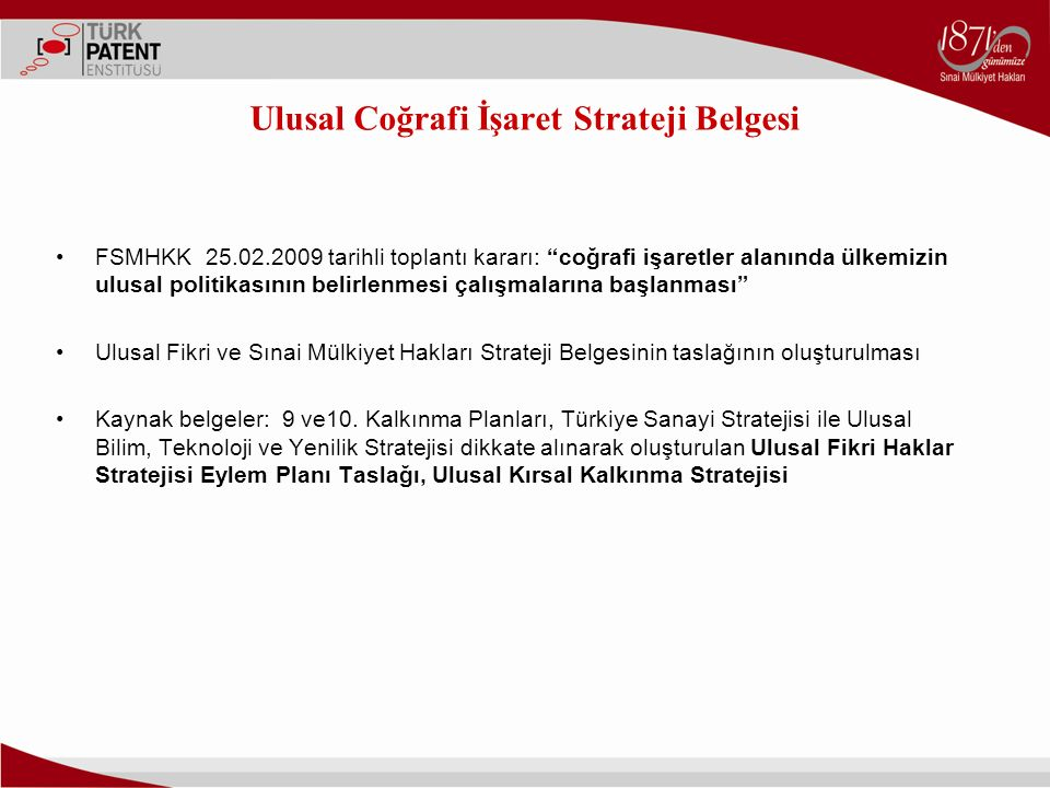 Ulusal Coğrafi İşaret Strateji Belgesi