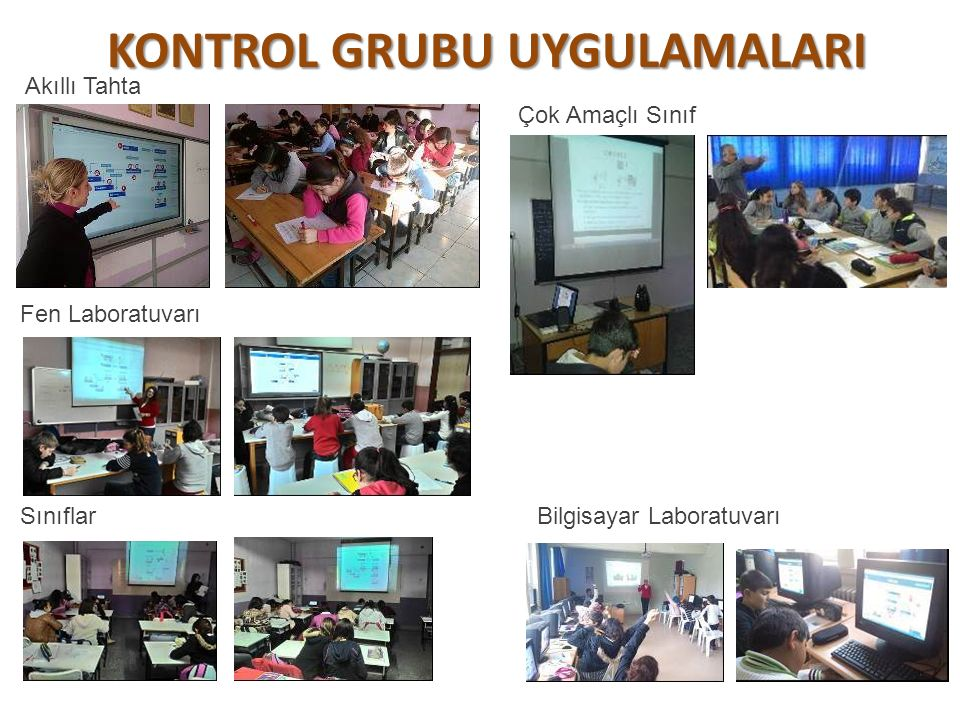 KONTROL GRUBU UYGULAMALARI