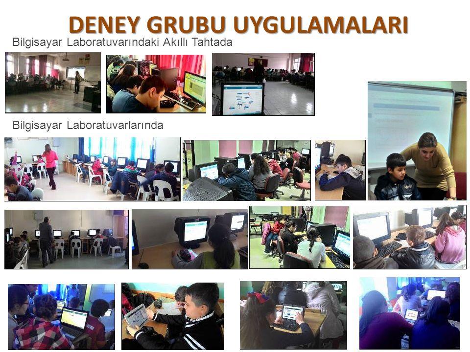 DENEY GRUBU UYGULAMALARI