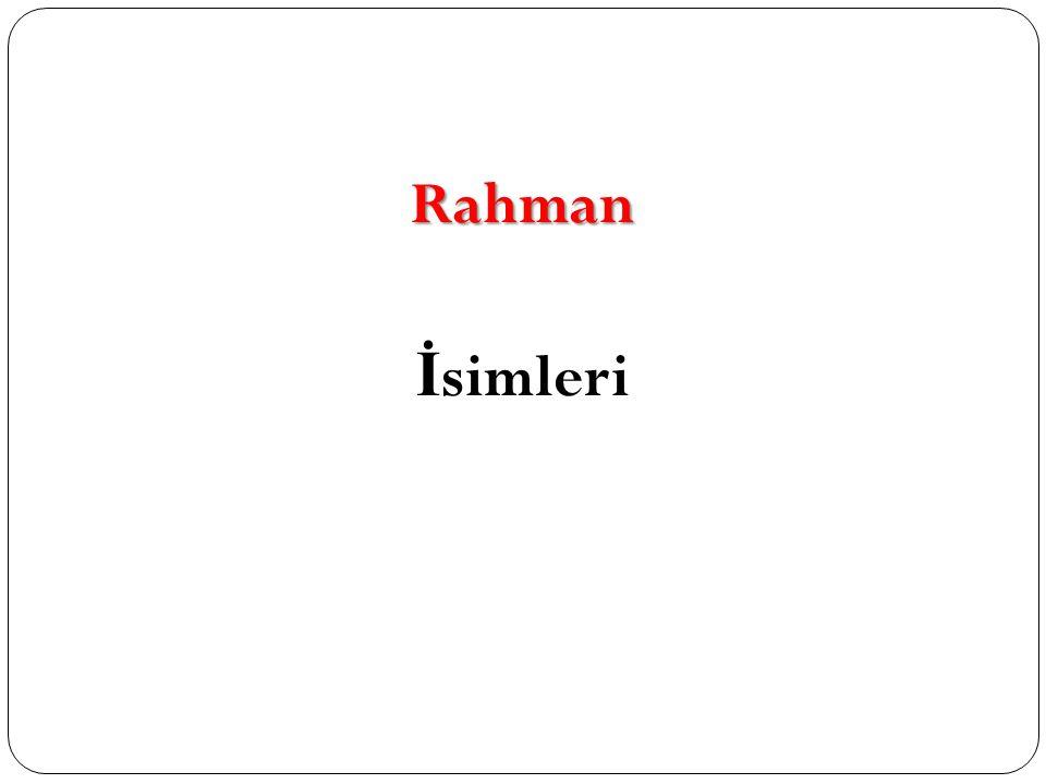 Rahman İsimleri