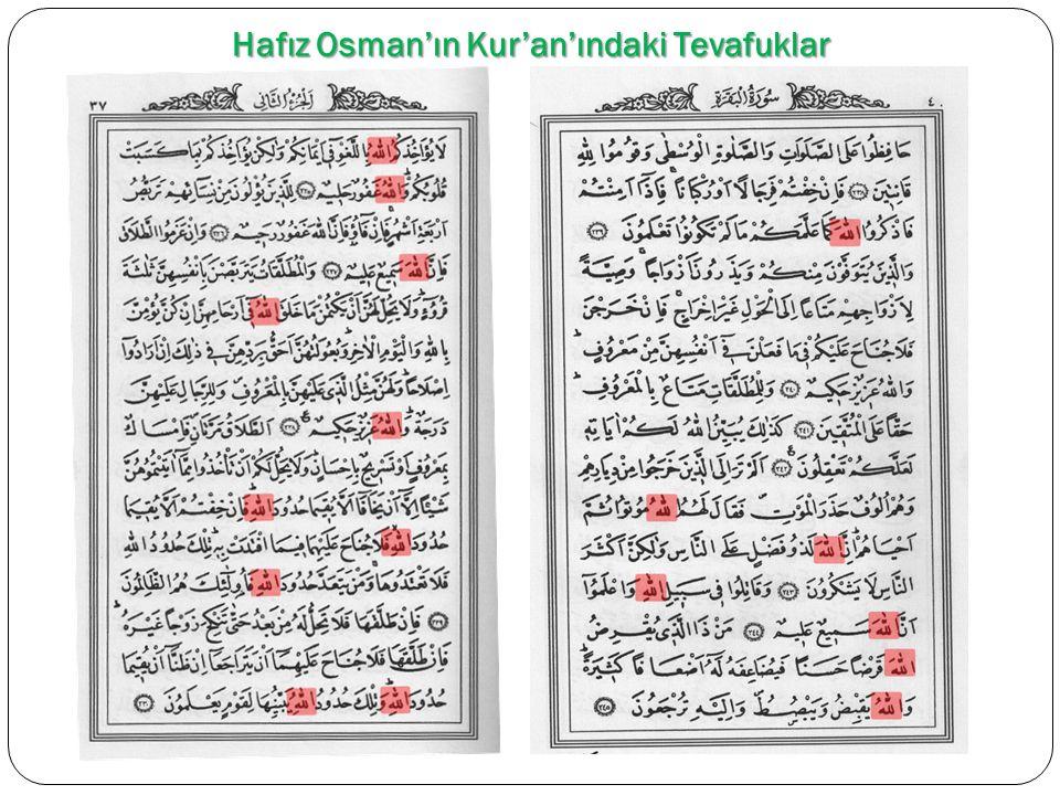 Hafız Osman'ın Kur'an'ındaki Tevafuklar