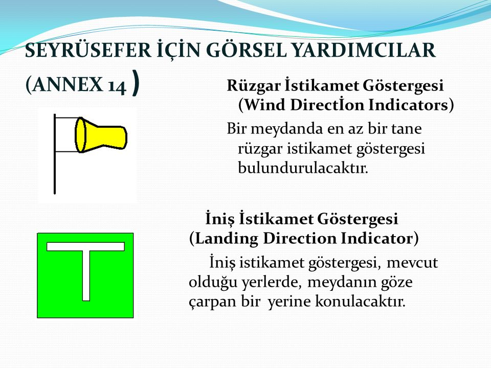 SEYRÜSEFER İÇİN GÖRSEL YARDIMCILAR (ANNEX 14 )