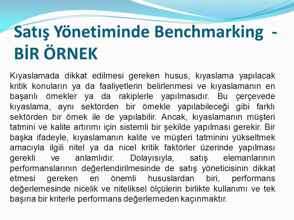 Satış Yönetiminde Benchmarking - BİR ÖRNEK