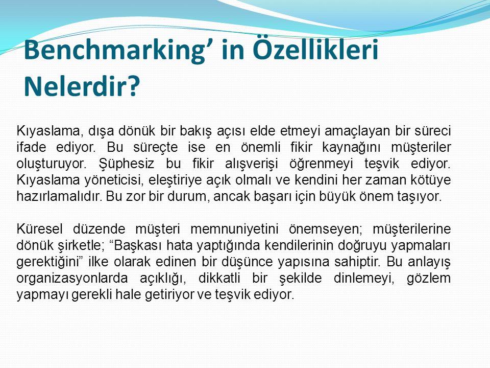 Benchmarking' in Özellikleri Nelerdir
