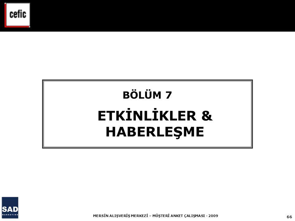 ETKİNLİKLER & HABERLEŞME