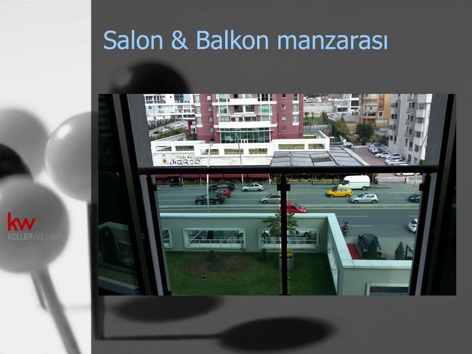 Salon & Balkon manzarası