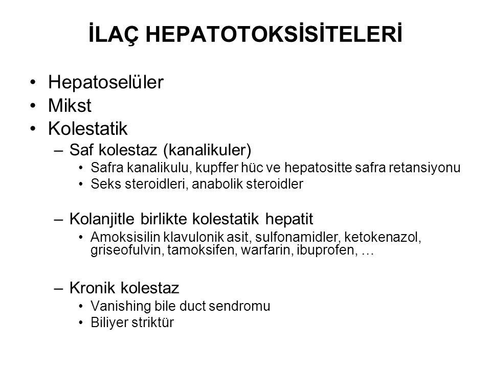 İLAÇ HEPATOTOKSİSİTELERİ