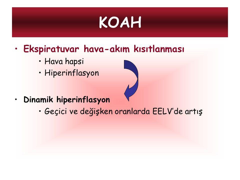 KOAH Ekspiratuvar hava-akım kısıtlanması Hava hapsi Hiperinflasyon