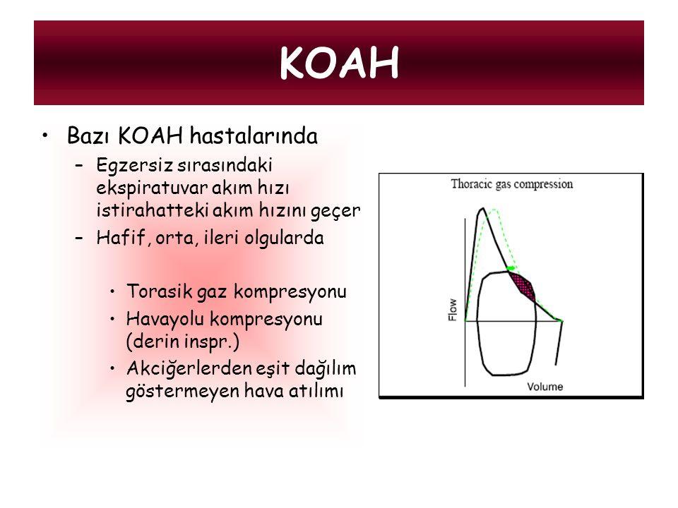 KOAH Bazı KOAH hastalarında