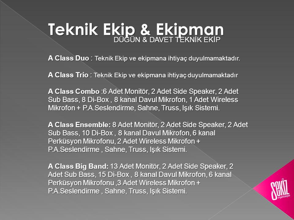 Teknik Ekip & Ekipman DÜĞÜN & DAVET TEKNİK EKİP