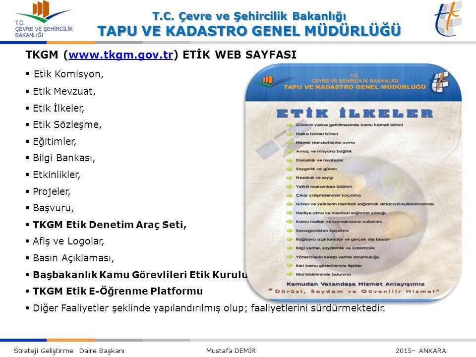 TKGM (www.tkgm.gov.tr) ETİK WEB SAYFASI Etik Komisyon,
