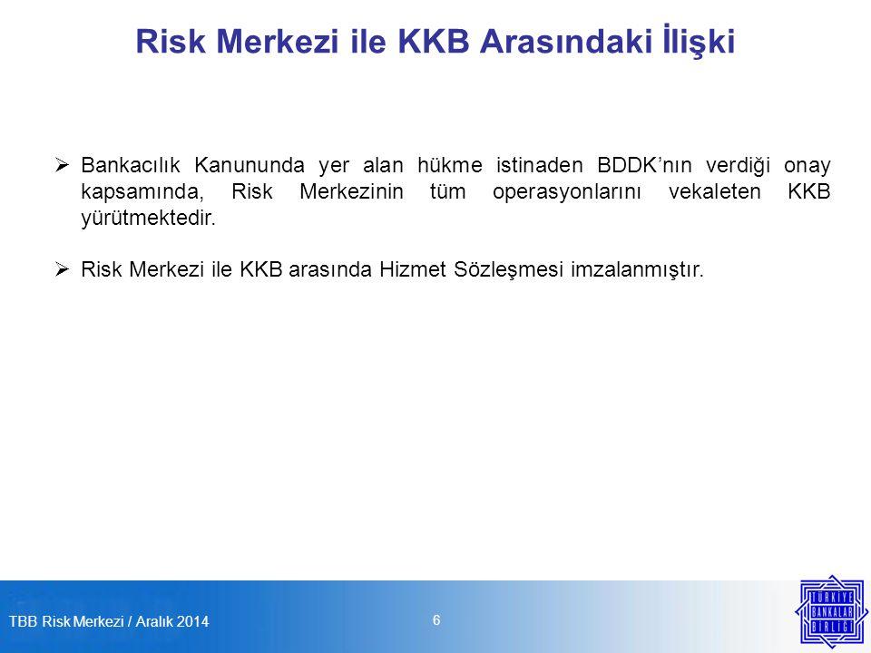 Risk Merkezi ile KKB Arasındaki İlişki
