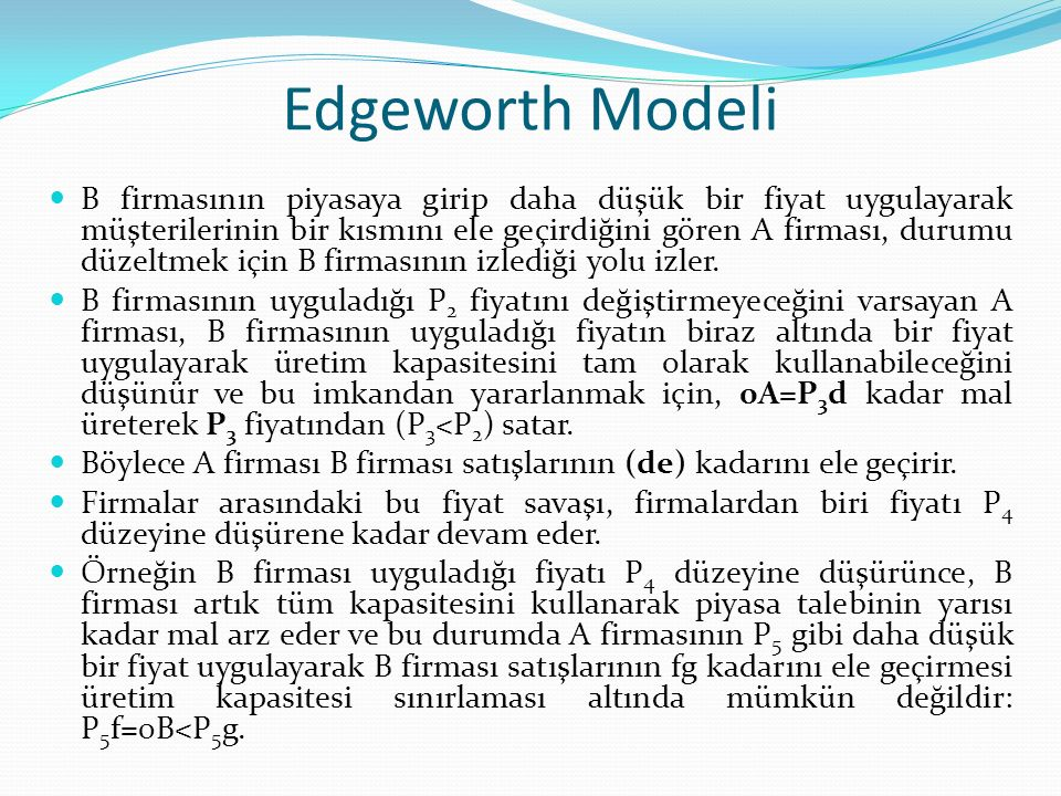 Edgeworth Modeli