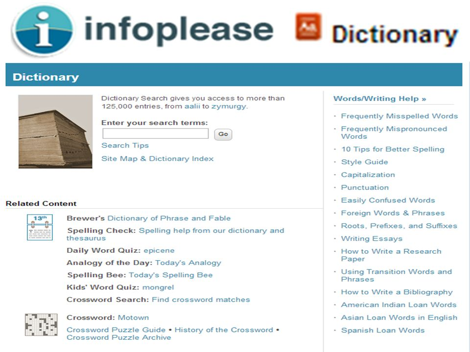 Infoplease - Dictionary