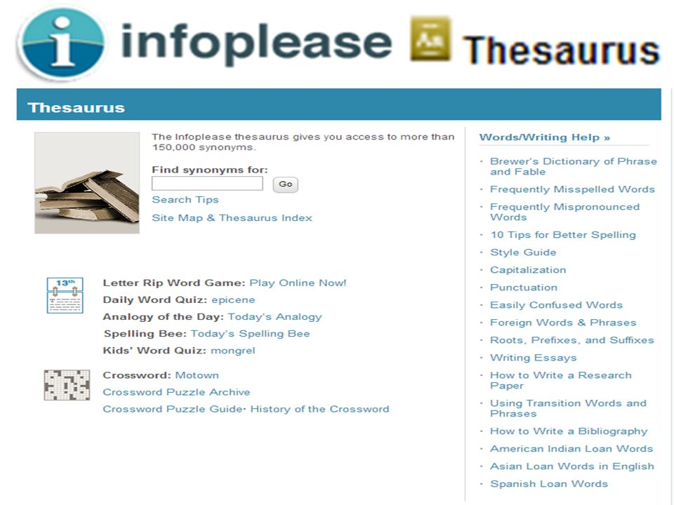 Infoplease - Thesaurus