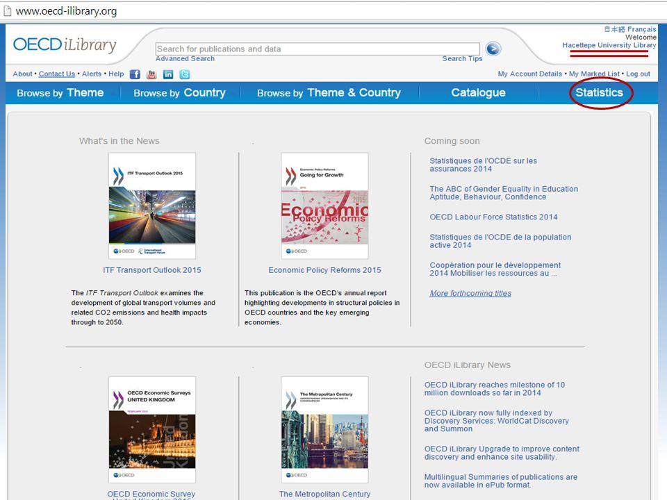 OECD iLibrary portalına proxy ayarlarınızı yaptıktan sonra H. Ü