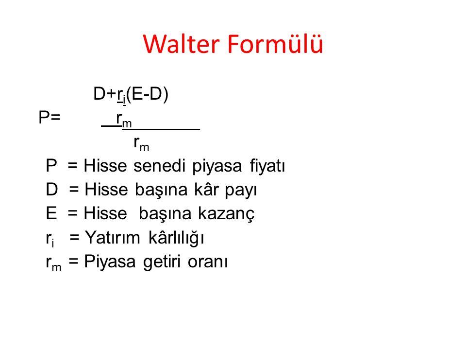 Walter Formülü