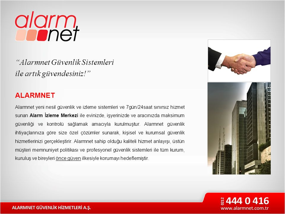 Alarmnet Güvenlik Sistemleri ile artık güvendesiniz!