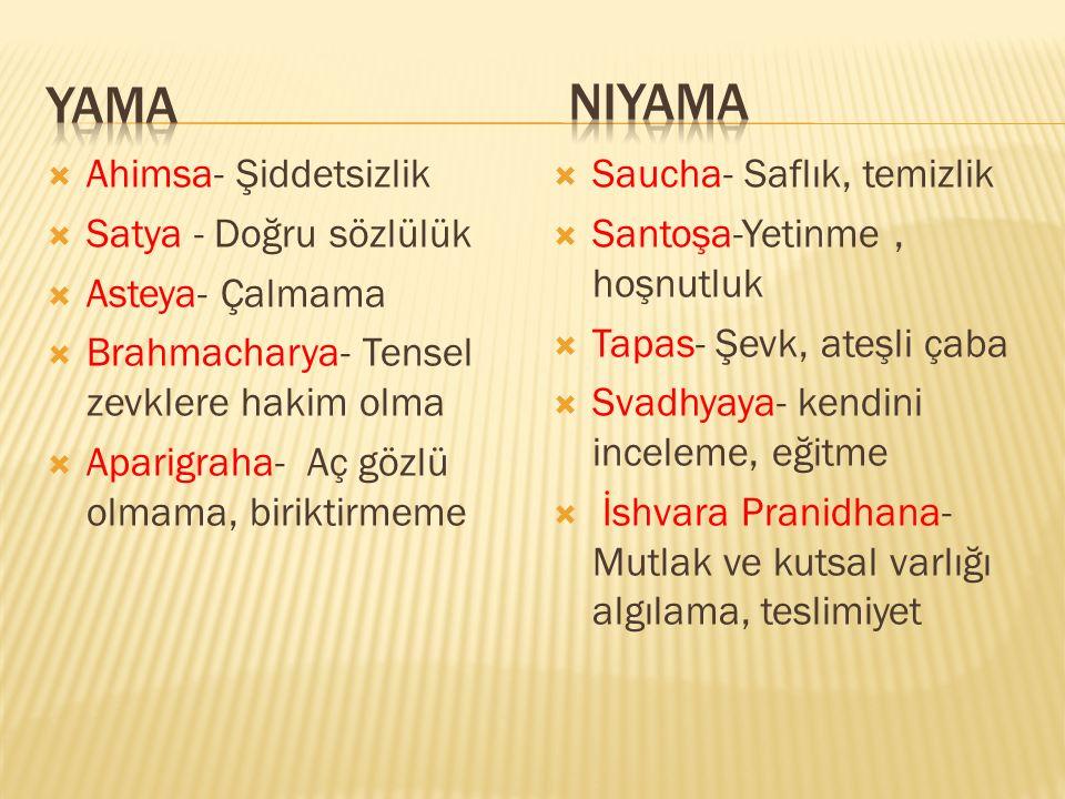 niyama yama Ahimsa- Şiddetsizlik Satya - Doğru sözlülük