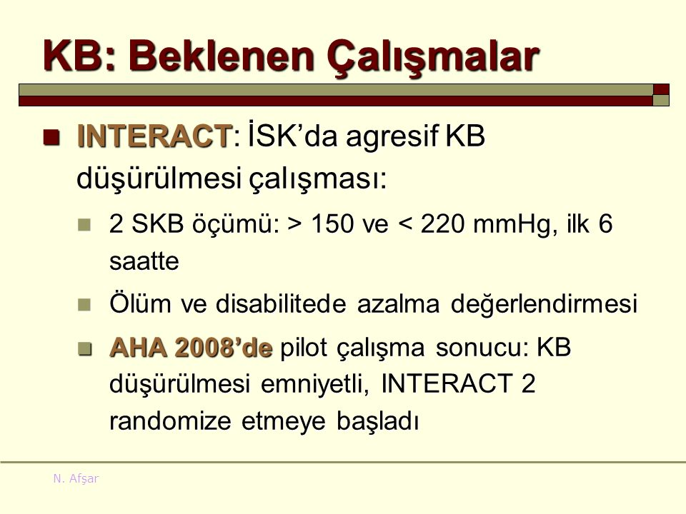KB: Beklenen Çalışmalar