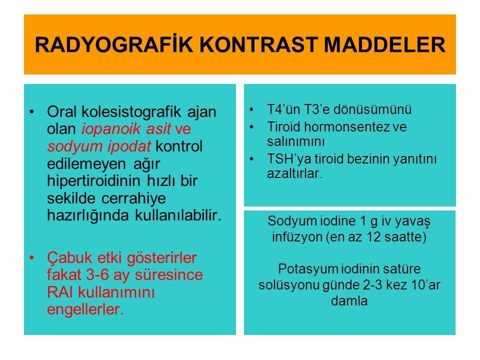 RADYOGRAFİK KONTRAST MADDELER