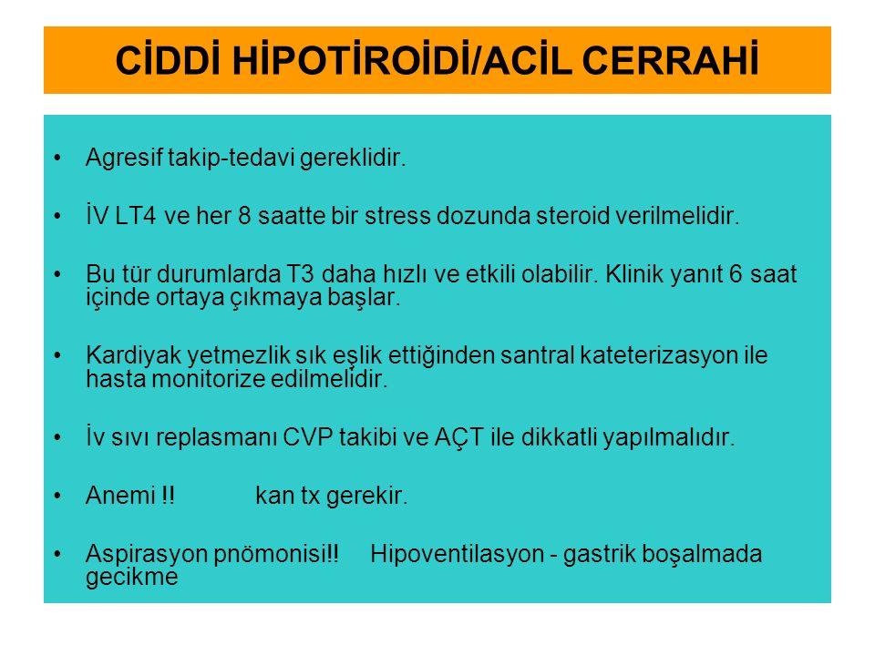 CİDDİ HİPOTİROİDİ/ACİL CERRAHİ