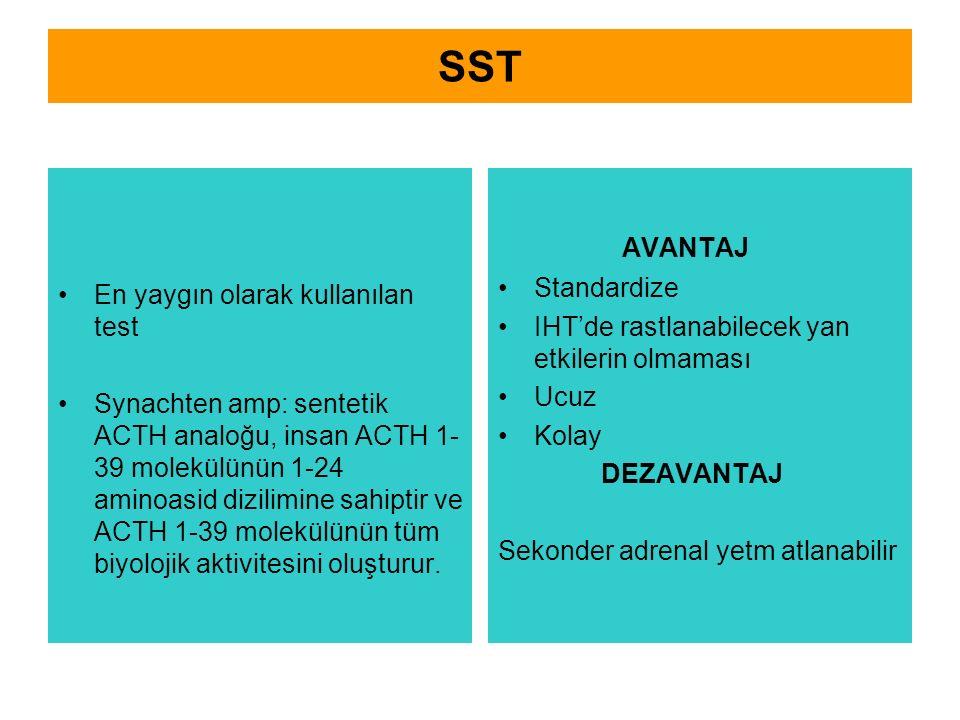 SST AVANTAJ Standardize En yaygın olarak kullanılan test