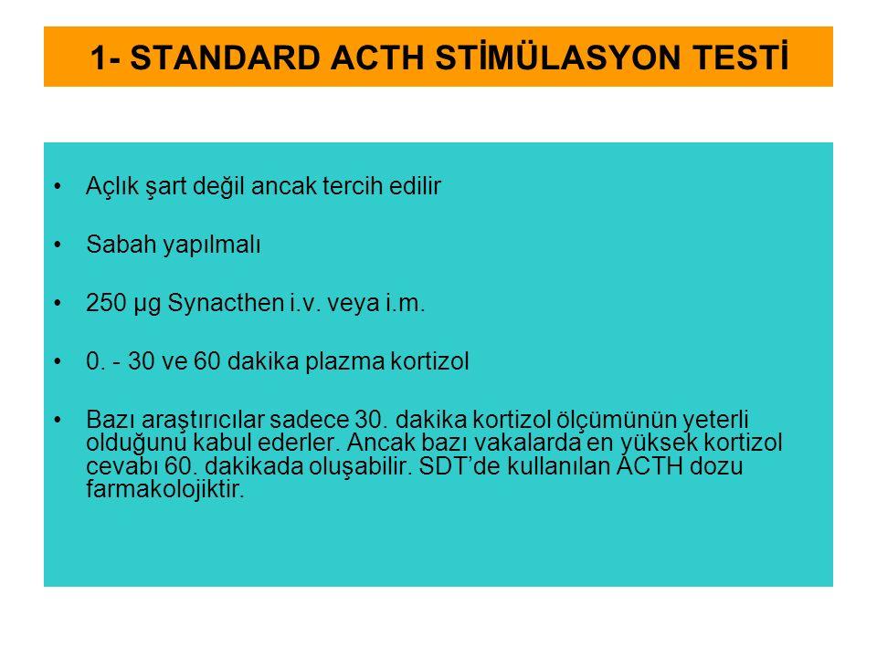 1- STANDARD ACTH STİMÜLASYON TESTİ