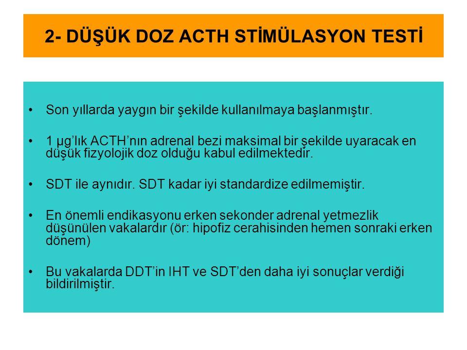2- DÜŞÜK DOZ ACTH STİMÜLASYON TESTİ