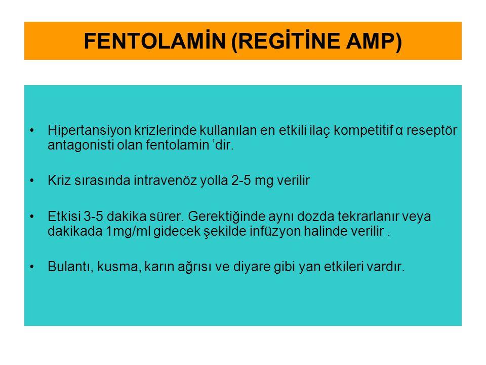 FENTOLAMİN (REGİTİNE AMP)