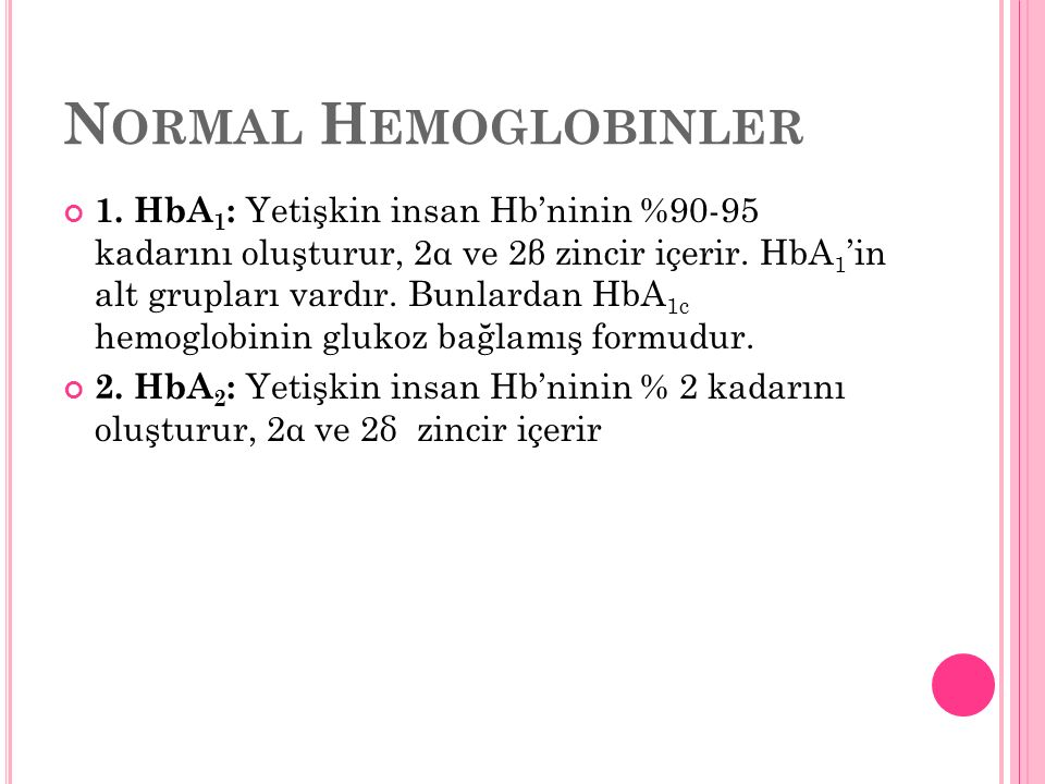 Normal Hemoglobinler