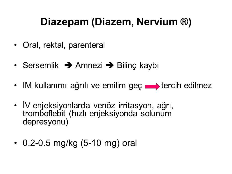 Diazepam (Diazem, Nervium ®)