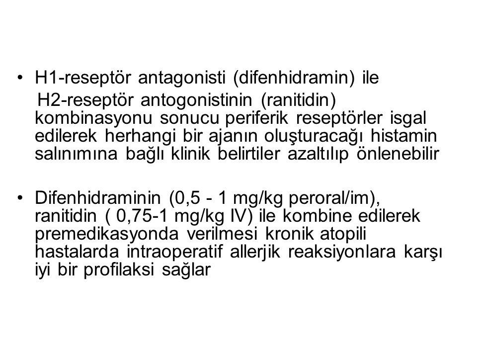 H1-reseptör antagonisti (difenhidramin) ile