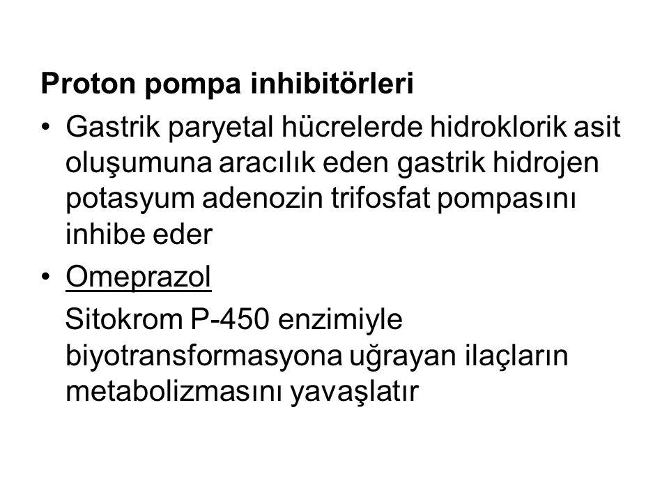 Proton pompa inhibitörleri
