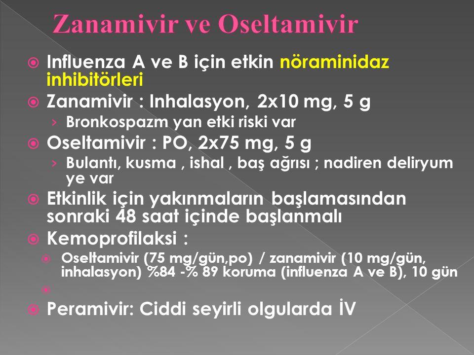 Zanamivir ve Oseltamivir