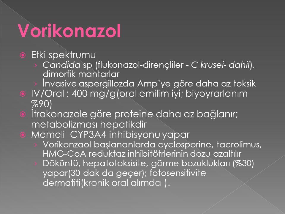 Vorikonazol Etki spektrumu