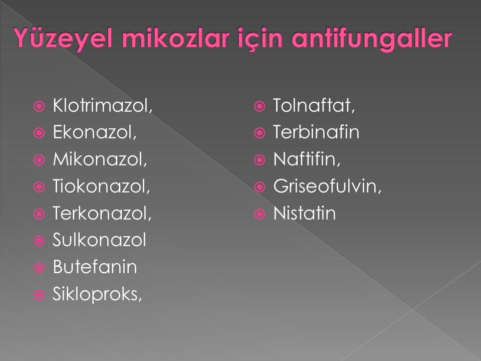 Yüzeyel mikozlar için antifungaller