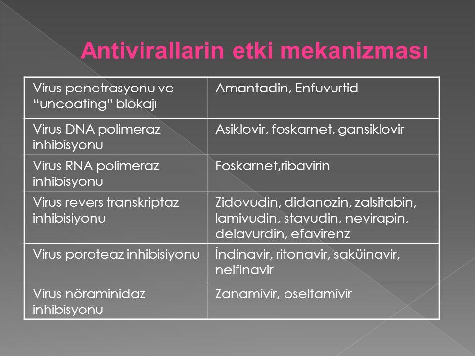 Antivirallarin etki mekanizması