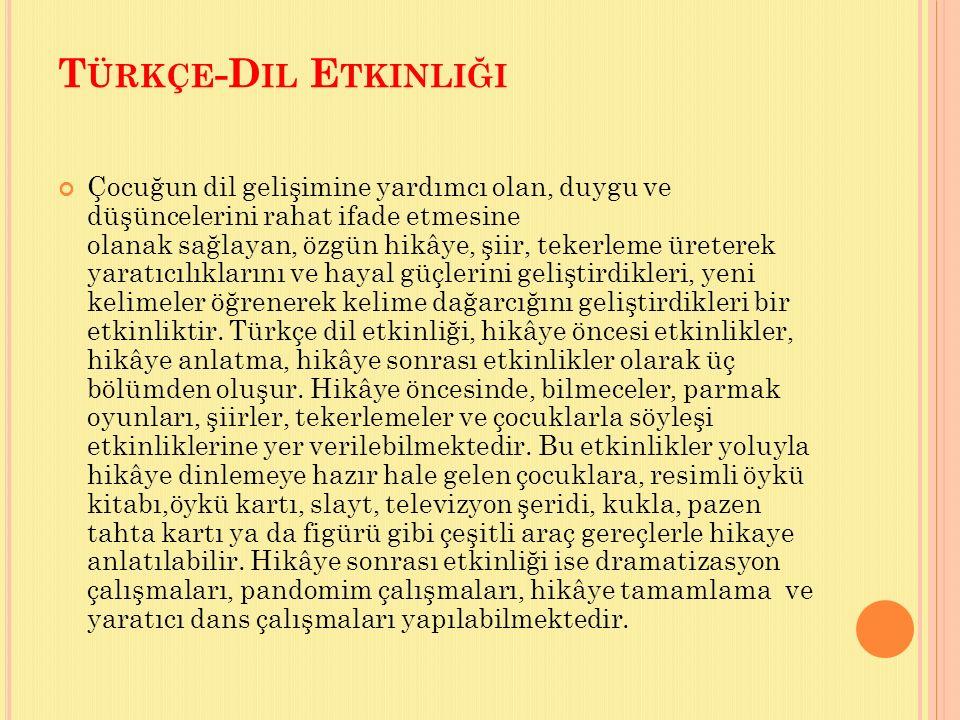 Türkçe-Dil Etkinliği