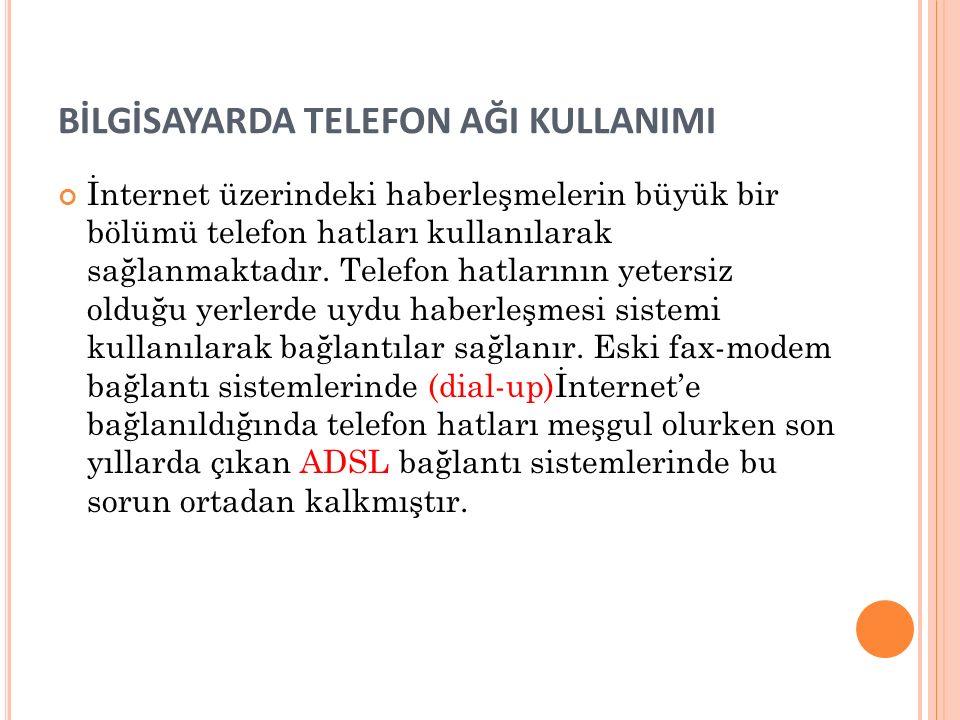BİLGİSAYARDA TELEFON AĞI KULLANIMI
