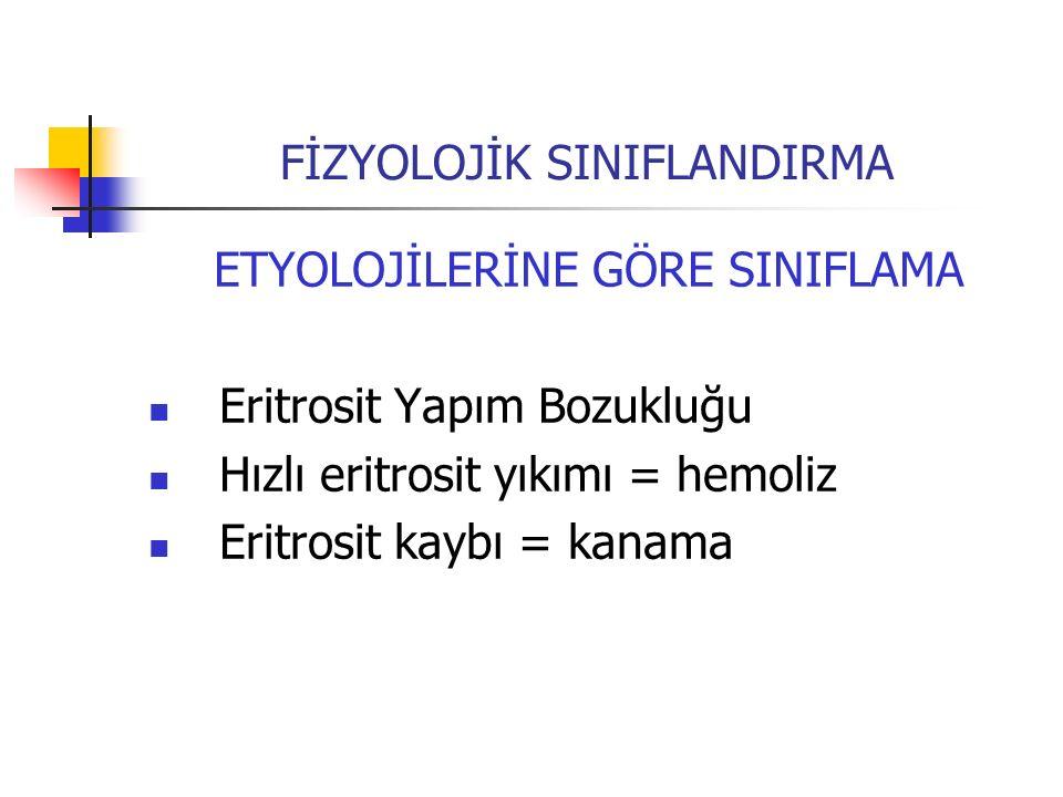 FİZYOLOJİK SINIFLANDIRMA