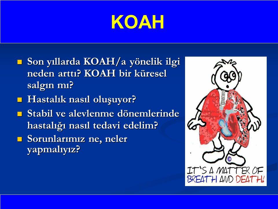 KOAH Son yıllarda KOAH/a yönelik ilgi neden arttı KOAH bir küresel salgın mı Hastalık nasıl oluşuyor