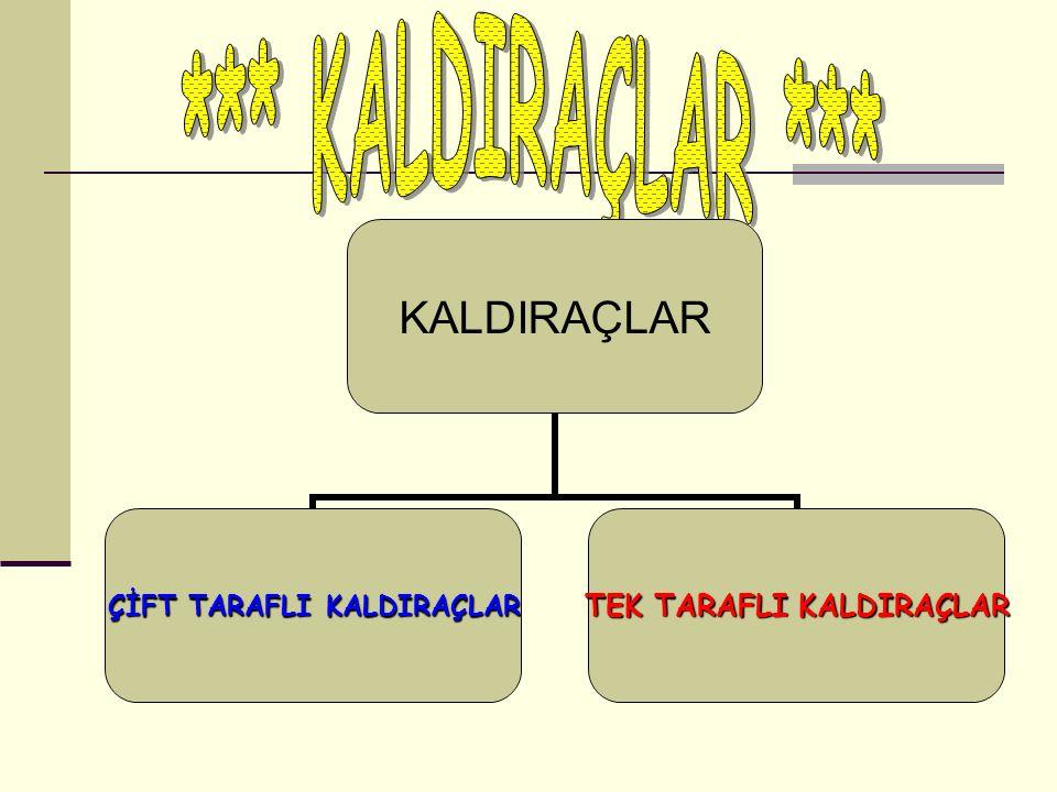 *** KALDIRAÇLAR ***