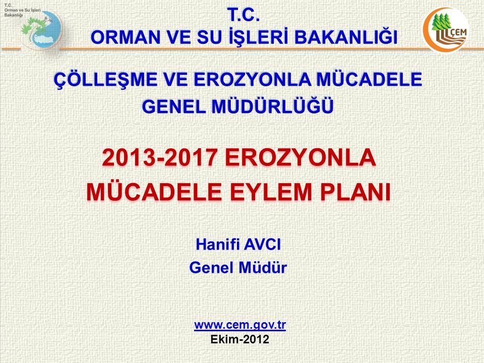 2013-2017 EROZYONLA MÜCADELE EYLEM PLANI