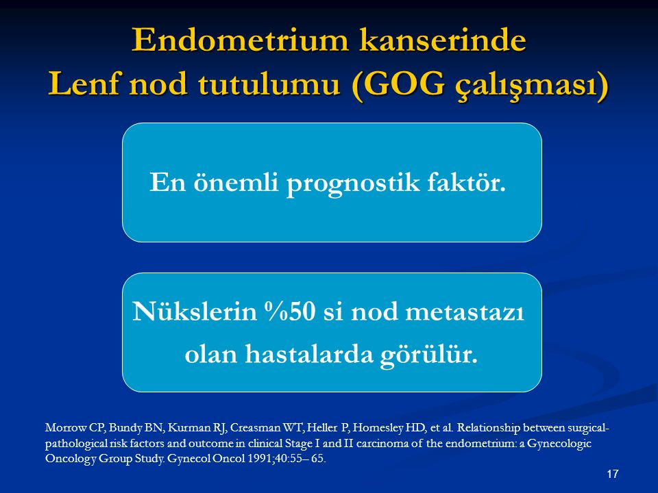 Endometrium kanserinde Lenf nod tutulumu (GOG çalışması)