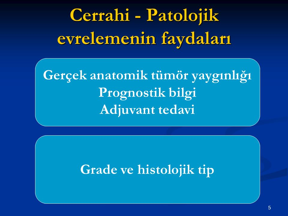 Cerrahi - Patolojik evrelemenin faydaları